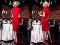 Платье женское длинное приталенное с замком на талии P925, фото 1