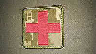 Шеврон красный крест медика