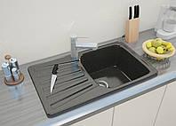 """Кухонная мойка Moko Granit """"Napoli"""" цвет nero-brillante (черный) иск. мрамор"""