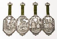 Четыре панно, картины оловянные Германия 4 сезона