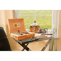 Эксклюзивный хьюмидор (коробка) для сигар из кедрового дерева с застёжкой