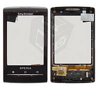 Touchscreen (сенсорный экран) для Sony Ericsson X10 mini, оригинал (черный)