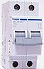Автоматический выключатель Hager MC204A In=4 А, 2п, С, 6 kA, 2м