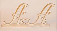 Буквы АА (на подставке) заготовка для декора