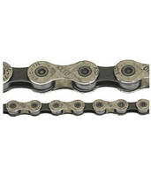 Цепь инд. 112 зв. 1/2x11/128 KMC X10 silver/dark silver
