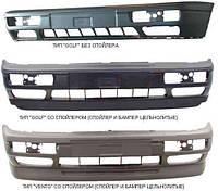 Бампер передний (тип Golf) + спойлер черный Фольксваген Гольф 3 / Golf 3 (91-97)