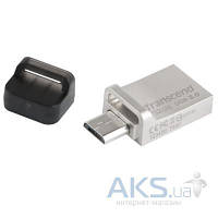 Флешка Transcend 32GB JetFlash OTG 880 Metal Silver USB 3.0 (TS32GJF880S)