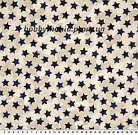 Звезды, камуфляж. Синий. Хлопок 100%. Ткань для галстука-бабочки. BT-4