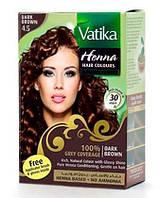 Краска  для волос на основе хны VATIKA Каштановая 10г