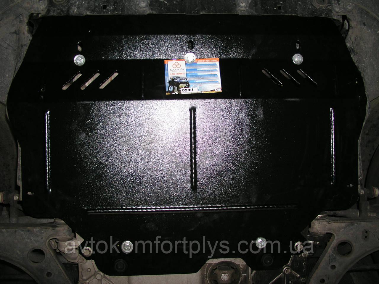 Металлическая  защита двигателя (картера) Volkswagen Caddy WeBasto (2004-2010) (все обьемы)
