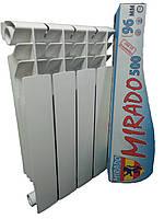 Биметаллический радиатор Mirado 500/96 украинский производитель 202 ват /25 лет гарантии