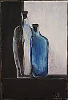 «Бутылки» картина маслом