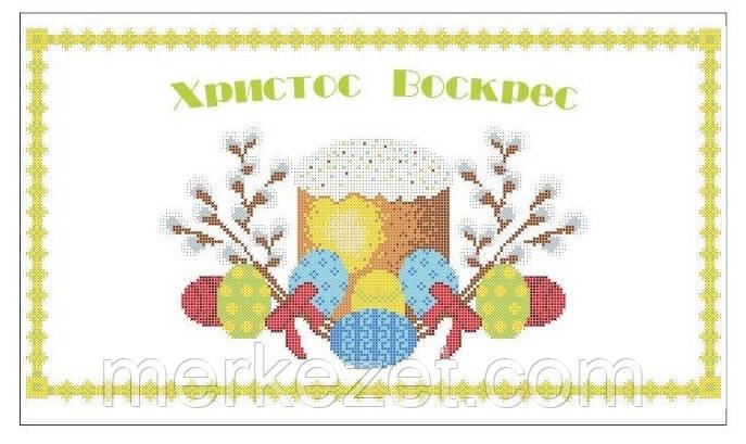рушник Великодній. канва для вышивки бисером