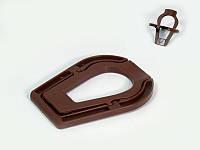 Подставка 70101 (01450) под 1 трубку, коричневая, пластик