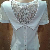 Блузка молодёжная с ажурным рукавом.