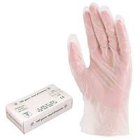 Перчатки одноразовые виниловые с присыпкой, нестерильные. Уп. 100 шт.