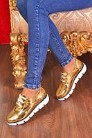 Женские золотистые туфли на низком ходу 39 размер