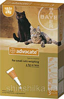 Bayer Advocate 1 пипетка-капли для кошек весом до 4 кг