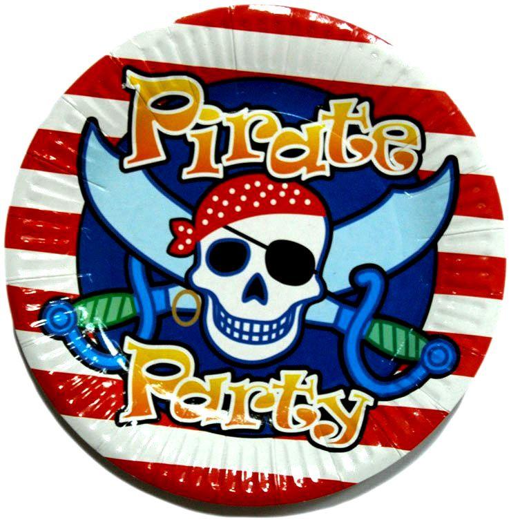 """Тарелочка """"Пираты, пиратская вечеринка"""" 18 см"""