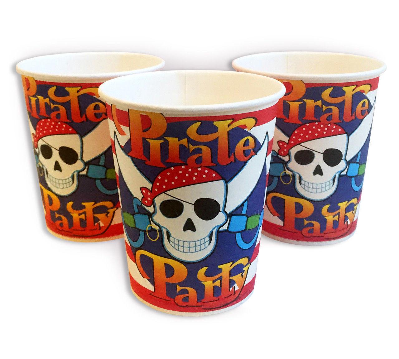 """Стаканчик """"Пираты, пиратская вечеринка""""  220мл"""