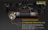 Ліхтар налобний Nitecore HC30 (Cree XM-L 2 U2, 1000 люмен, 8 режимів, 1x18650), фото 3
