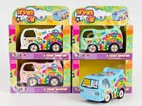"""Машинка железная KINSFUN №4102 W (инер-я, DREAM CAR 4 """", 4 цвета, откр.дверы, в кор-ке)"""
