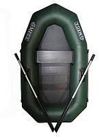 Лодка надувная  гребная одноместная пвх OMega Ω 190 LS (полный комплект - поворотные уключины и слань коврик)