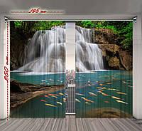 Штора 3D Навстречу водопаду