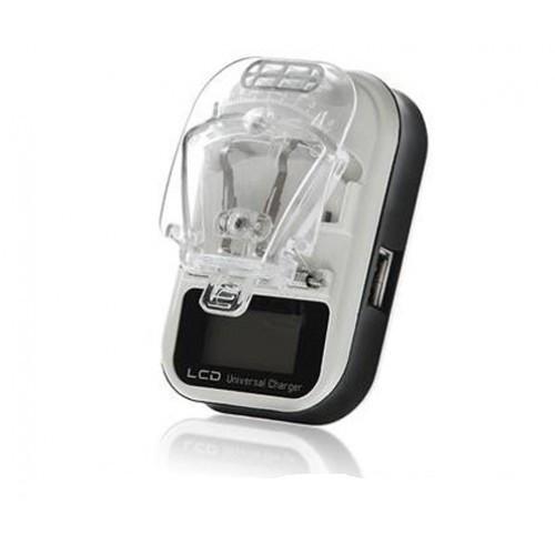 Универсальное зарядное устройство Жабка с LCD дисплеем и USB для зарядки съемных аккумуляторов