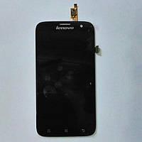 Дисплей с сенсорным экраном для телефона Lenovo A859 черный