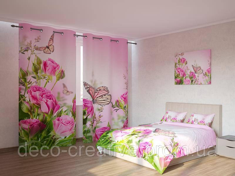 Фотокомплект бабочки на розах