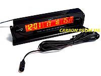 Часы с выносным термометром и вольтметром VST 7013V для автомобиля
