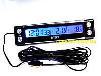 Часы термометр VST 7036 для автомобиля