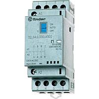 Контактор 22.34.0.230.4320 Finder 25A 4НО, 220-240B AC/DC