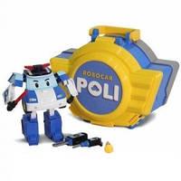 Кейс трансформер Poli с гаражом 12,5см Robocar Poli/  Робокар Полли. Кейс с Трансформером Поли с гаражом