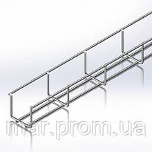 Лоток сетчатый WBB 50х50мм, проволока D4 мм, белый цинк, 2,5м