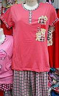 Женская пижама №1601F (капри)