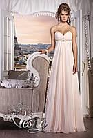 Свадебное платье в греческом стиле, со шлейфом «Встреча с музой»