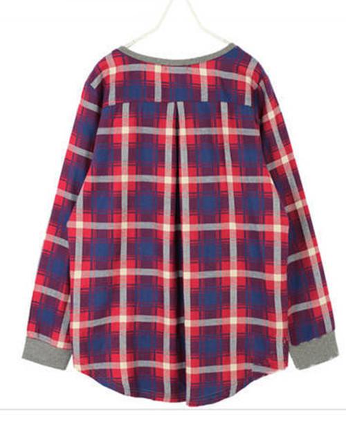 0ec8af95c6e Женская кофта-рубашка в клетку