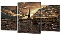 Модульная картина 9 Эйфелева башня с набережной