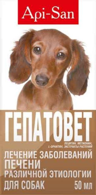 Гепатовет-суспензия для собак, 50мл