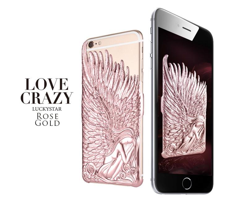 Чехол накладка для iPhone 6/6s Luxury Rose Angel Wings