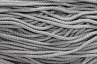 Шнур акрил 6мм.(100м) св.серый+серебро, фото 1