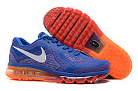 """Кроссовки Nike Air Max 2014 """"Blue with Orange\Red Overflow"""""""