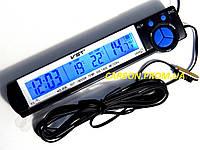 Часы с термометром и вольтметром VST 7043V для автомобиля
