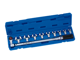 Ключ динамометрический в наборе со сменными насадками 40-200НМ (в к-те трещотка, насадки рожковые 13