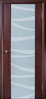 Двери межкомнатные шпонированные «ГЛАЗГО» с пескоструйным рисунком