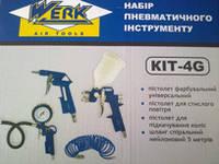 Пневмоинструмент Werk КІТ-4G набор из 4 предметов