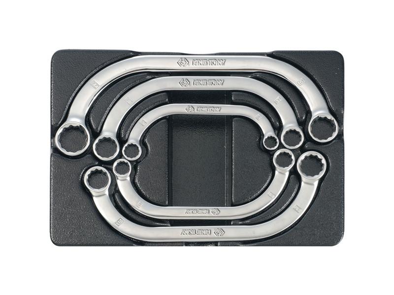 Набор ключей накидных С-образных 5ед в ложементе KINGTONY