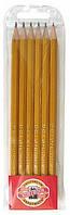 Набор графитных карандашей K-I-N 1570/06 6 шт.  195002